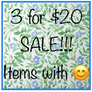 BUNDLE 3 ITEMS WITH 😊 FOR $20